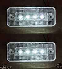 2x 12V Weiß VORNE UMRISS LEUCHTE 4 LED LICHTER ANHÄNGER LKW LKW WOHNWAGEN