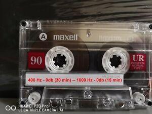 Calibration Audio Cassette Tape - Levels - Azimuth - Speed