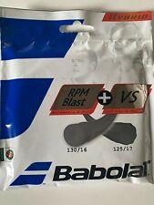 Babolat Hybrid Rpm Blast 17G+ Vs 16G Tennis String Set 40ft/12m