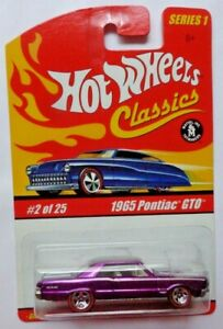 Hot Wheels Classics Series 1 1965 Pontiac GTO 2/25 (Purple Version)