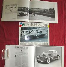 L'automobiliste N°78 :  ALFA-ROMEO 8 C duesenberg  Paul Arzens  Jaguar aux  Mans