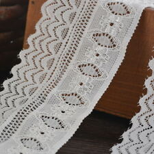 5yards 5cm Wide White Elastic Lace Trim Ribbon Decor Craft Sewing Wedding Dress