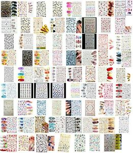 Self Adhesive Flower Butterfly Leaf Nail Cute Stickers, Design Choice, UK Seller