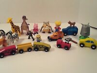 Toy Lot Wood Trains Animals Little People And More