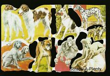 Mamelok Embossed English Scrap Die Cut - Majestic Dogs / Puppies  1548