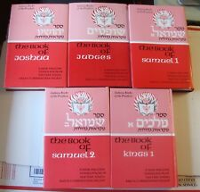 5 Judaic Books New English & Hebrew Translations, Rashi, And Commentary (inv256