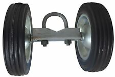 "ROLLING GATE 8"" WHEEL CARRIER: for Chain Link Fence Rolling Gates - Rut Runner"