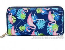 Ladies Flamingo Purse Wallet zip fasten multi compartment Flamingo lover gift
