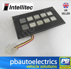 Intellitec 879 Programmable Switch Panel 10 way 24v Yel/Grn Bright - 00-00879-01
