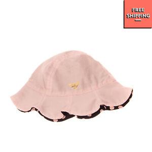 ARMANI BABY Bucket Hat Size S / 3-6M Logo Detail Scalloped Edge