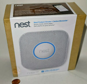 NEST Protect Smoke and Carbon Monoxide Alarm White S2001BW 05A - NEW