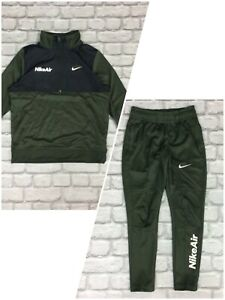 NIKE AIR BOYS POLY GREEN BLACK 2019 TRACK TOP/PANTS CHILDRENS *SOLD SEPARATELY*