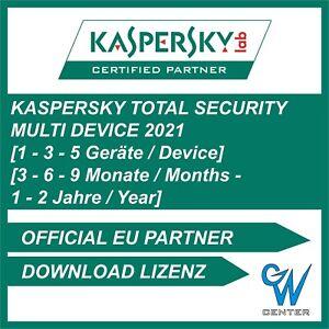 Kaspersky Total Security 2020 / 2021 1 PC   3 PC   5 PC   Geräte 1 - 2 Jahre