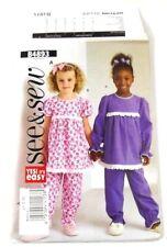 Butterick B4893 Pajama Pattern Size A 1 2 3 Uncut Tops And Bottoms
