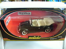 Solido Prestige VW Volkswagen Beetle Cabriolet in Black on 1:18 in Box