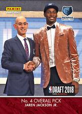 2018 PANINI INSTANT NBA DRAFT #4 JAREN JACKSON JR. -  4TH PICK MEMPHIS GRIZZLIES