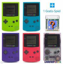 GameBoy Color Konsole (Farbe nach Wahl) + GRATIS Nintendo GBC Spiel TOP!