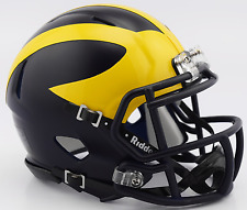 MICHIGAN WOLVERINES NCAA Riddell SPEED Mini Football Helmet (SATIN)