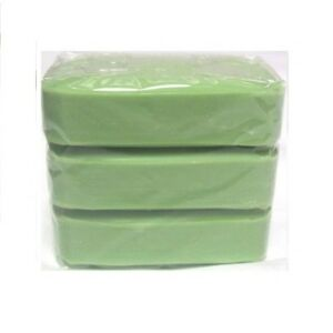 3 x Bars Of Traditional Household Soap Pre Wash Laundry Cleaning Soap - Green