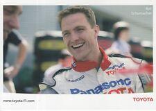 Ralf Schumacher Toyota Formula 1 Promo Card F1 2.