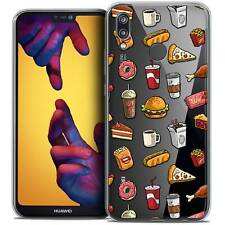 """Coque Crystal Gel Pour Huawei P20 LITE (5.84"""") Souple Foodie Fast Food"""