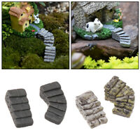 Miniature Stair Fairy Garden Ornament Decor Pot DIY Craft Accessories Dollhouse