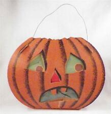 Vintage Halloween Pumpkin Lantern Decoration 1940s Dolly Toy Co Small Tears