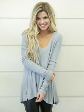 Free People |  Malibu Thermal Top Gray Size Small S  F2 $68
