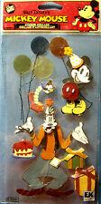 NEW VINTAGE MICKEY & GOOFY Mouse Birthday Balloons DISNEY JOLEE'S 3D Stickers
