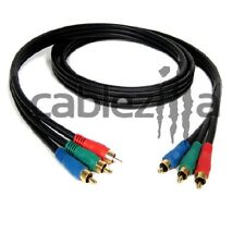 6FT 3RCA RGB Gold Plated Male Cable Colored Component Video Audio VCR DVD AV