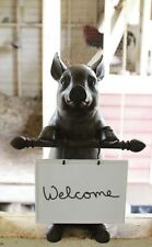 Pig with ceramic  message board for kitchen center island display statue