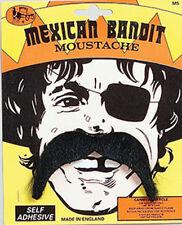 Mexican Pirate Moustache Tash 60s 70s Pimp Fancy Dress