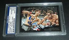 Ramsey Nijem Signed UFC 2011 Topps Moment of Truth Black Card #24 PSA/DNA Auto'd
