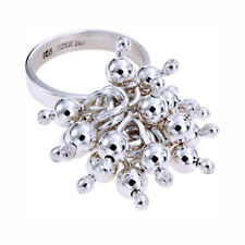 NEW Solid Sterling Silver Mexican Ring Moveable Beads Size L.5 Quality UK 13.3g