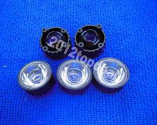 10pcs 60degree led Lens for 1W 3W High Power LED with screw 20mm Black holder
