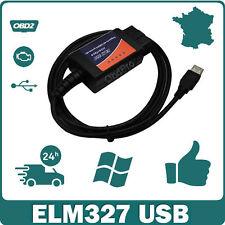 ELM327 v2.1 USB Interface diagnostic multimarque OBDII Scanner Windows FTDI HQ