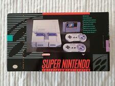NEW - Super Nintendo Entertainment System SNES Console BLACK BOX 1ST RELEASED