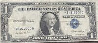 USA 1 Dollar 1935 E Silver Certificate One Banknote STAR NOTE Schein #21995