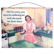 Funny Shabby Vintage Style Metal Wall Plaque Tin Sign Oh I'm Sorry 24x19cm