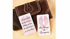 6 Breast Cancer Awareness Prayer Pink Ribbon Wallet Cards