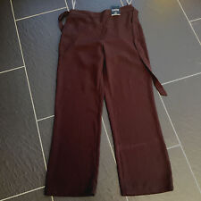 BHS LADIES CHOCOLATE BROWN TROUSERS SIZE 10 PETITE BRAND NEW