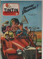 TINTIN n°454 du 4 Juillet 1957 - Complet -  Bonnes Vacances