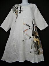 LAGENLOOK 100% LINEN  LONG TOP/DRESS SHORT SLEEVE 7 COLOURS PLUS SIZE FITS 16-20