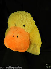 "My Pillow Pets Large Puppy Yellow Duck Orange Bill 18"" Plush Toy Ex. Condition"
