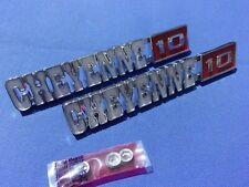 NEW 1971-72 Chevy Pickup Cheyenne 10 Fender Emblem Pair GM Licensed 3998216