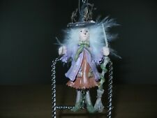 """Patience Brewster Krinkles Halloween 3"""" Ornament - Raggedy Witch"""