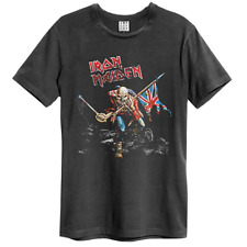 Official Iron Maiden Amplified 80 Tour Union Jack Unisex T-Shirt Licensed Tee