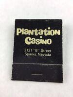 Vintage Plantation Casino Sparks Nevada Keno Gaming Slots Matchbook