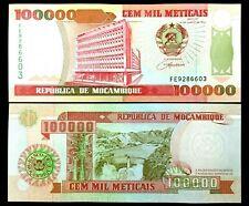 Mozambique 100,000 Meticais Banknote World Paper Money Unc Bill Note