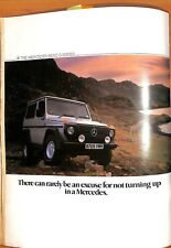 Original Vintage Mercedes Benz Jeep Advert from Shooting Times Magazine 10/1984